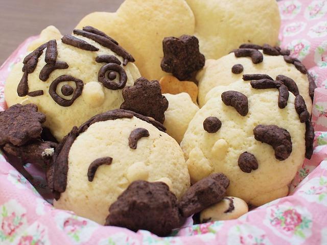人の顔のクッキー