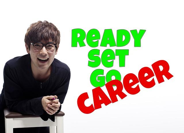 Ready Set Go Careerと言っている男性