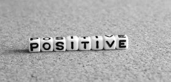 「POSITIVE」という文字