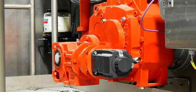 オレンジ色の何かの機械