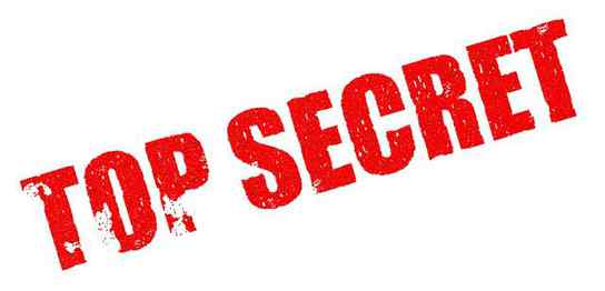 TOP SECRETという赤い文字