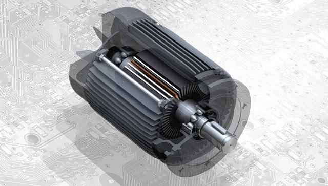 モーターの3D図面